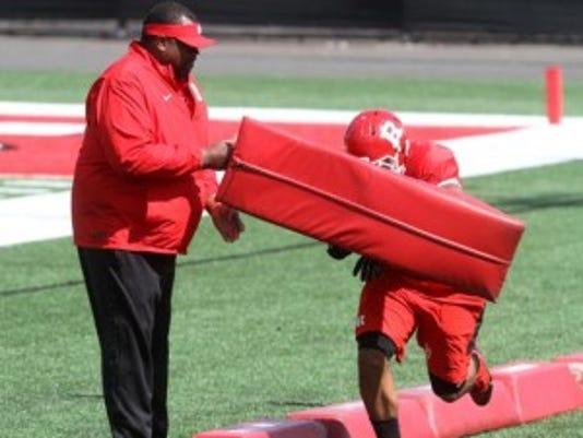 Rutgers interim head coach Norries Wilson has a unique place in school history.(Photo: Jason Towlen/Staff photographer)