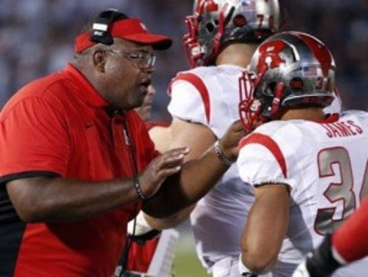 Rutgers interim head coach Norries Wilson takes a backseat during the week as Kyle Flood calls the shots.(Photo: AP)