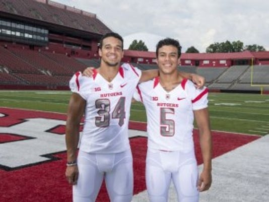 Freshman cornerback Ronnie James (5) followed in the footsteps of his older brother Paul James (34) by coming to Rutgers.(Photo: Ben Solomon/Courtesy of Rutgers athletics communications)