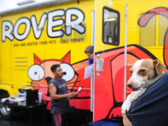The Nashville Humane Association's ROVER mobile office.