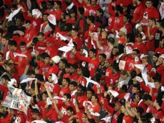 Rutgers had a major home-field advantage as the crowd of 53,000 was about 80 percent Scarlet-clad, 20 percent Penn State. (Mark Sullivan/Staff photographer)