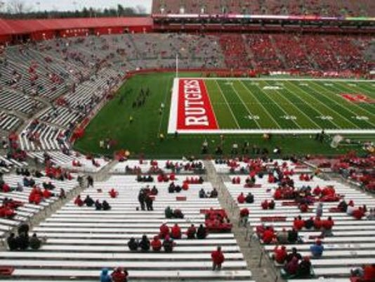 Rutgers football fans weren't showing up by the end of the 2010 season, when Rutgers lost its home finale to Louisville. (File photo)