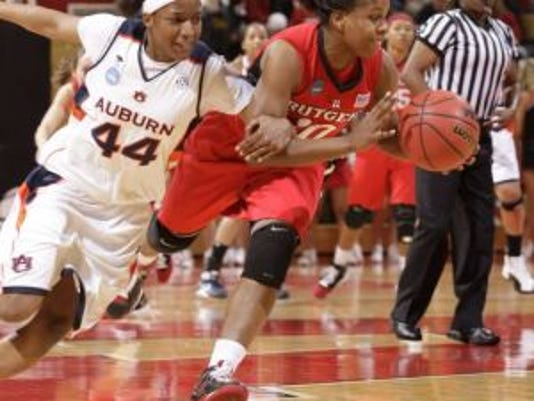 Former Rutgers guard Epiphanny Prince, who left school in a surprising move after the 2009 season, plans to finish up her degree now that she has been traded to the WNBA's New York Liberty. (Photo: File photo)