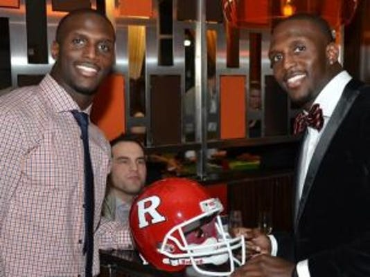 Former Rutgers stars Jason (left) and Devin McCourty have used their NFL star power to raise funds and awareness for the Tackle Sickle Cell campaign. (Photo: Courtesy of Lunar Sports Group)