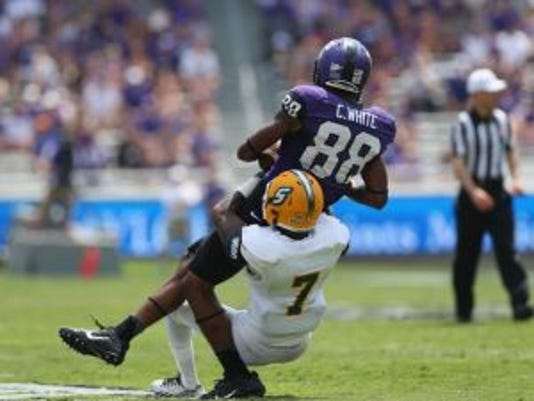 Cameron White made 45 catches for 546 yard and two touchdowns in three seasons at TCU.(Photo: Getty Images)