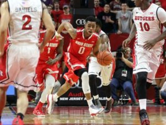 D'Angelo Russell posted a rare triple-double at Rutgers. (Jason Towlen photo)