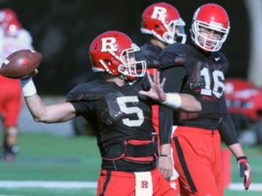 Rutgers football quarterback Chris Laviano is the only one with game experience on the roster.(Photo: Mark R. Sullivan/Gannett)