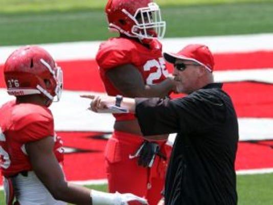 Rutgers linebackers coach Bob Fraser recruited Isaiah Johnson out of City College of San Francisco.(Photo: Mark R. Sullivan/Gannett)