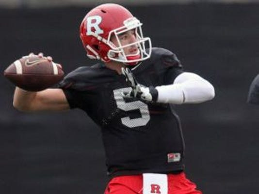 Rutgers quarterback Chris Laviano has the experience edge on Hayden Rettig and Giovanni Rescigno.(Photo: Mark R. Sullivan/Gannett)