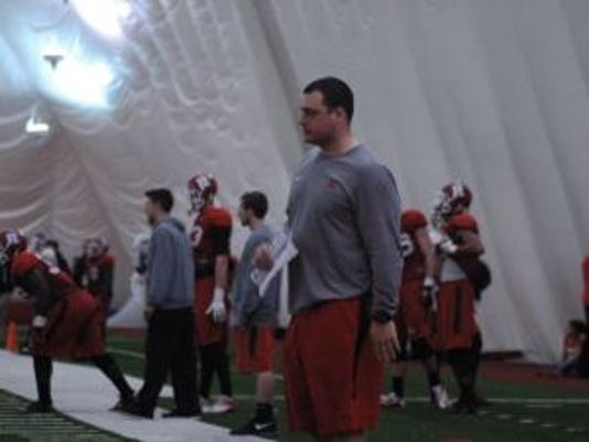Scott Vallone, who played defensive tackle at Rutgers from 2008-12, was hired as a graduate assistant during the offseason.(Photo: Bobby Deren/Courtesy of ScarletNation.com)