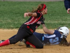 Ally Hernandez attemps to apply a tag Friday