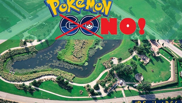 The City of Pensacola is asking Pokemon GO players to refrain from playing in Veteran's Memorial Park.