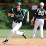 Parkside's Matt Smith rounds the baseball against Crisfield in 2015.