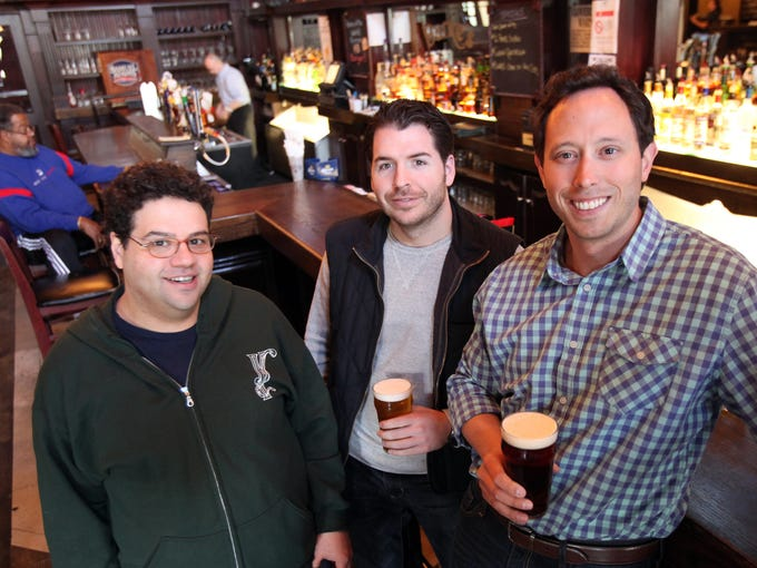 From left, Yonkers Brewing Co. head brewer Sharif Taleb
