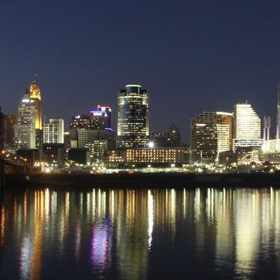 A shot of the Cincinnati skyline