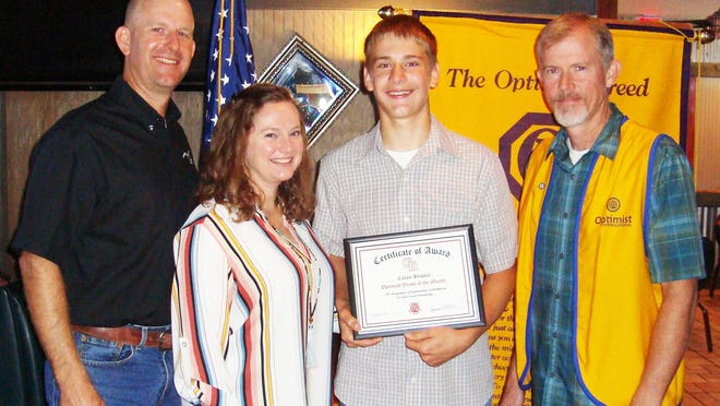 The Glen Rose Optimist Club's Junior High School Boys Youth of the Month is Cason Staples. He is on the A Honor Roll at Glen Rose Junior High School, has been a member of the National Junior Honor Society sixth the sixth grade, and is an honor student in all subjects. He participated in the Duke TIP Program.