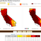 The part of California in the worst level of drought