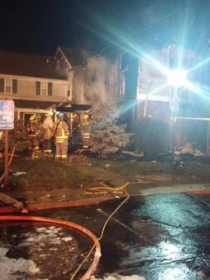 Crews douse a condo fire on Timberview Court in West Chester.