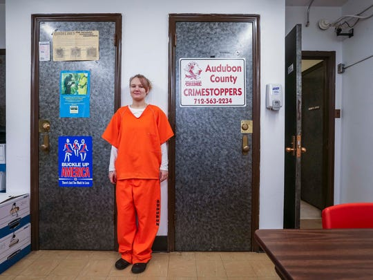 """I lost everything in three years.""  Genna Reed tells her story of addiction and loss while at the Audubon County Jail, Thursday May 10, 2018, in Audubon, Iowa."