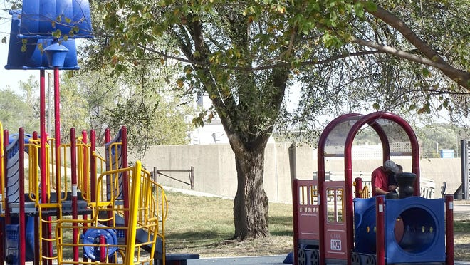 The Legacy Square playground, First and Walnut streets in Ottawa, is completed and officially open to the public.