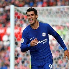 Alvarato Morata hat trick leads Chelsea to big win over Stoke City