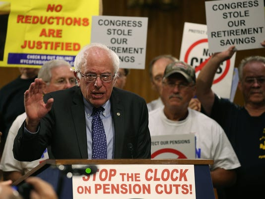Bernie Sanders And Union Leaders Call On Congress To Stop Pension Cuts