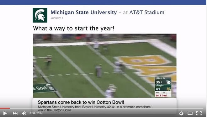 MSU year in review video still.