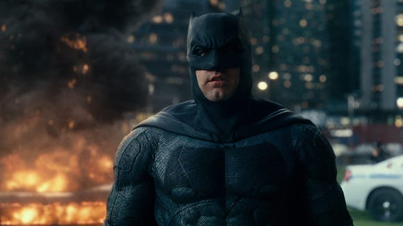 "Ben Affleck, seen here in ""Justice League,"" had an all-too-fleeting run as an older, jaded Batman."
