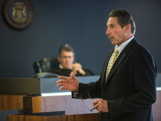 Defense attorney Edward Marshall delivers closing arguments