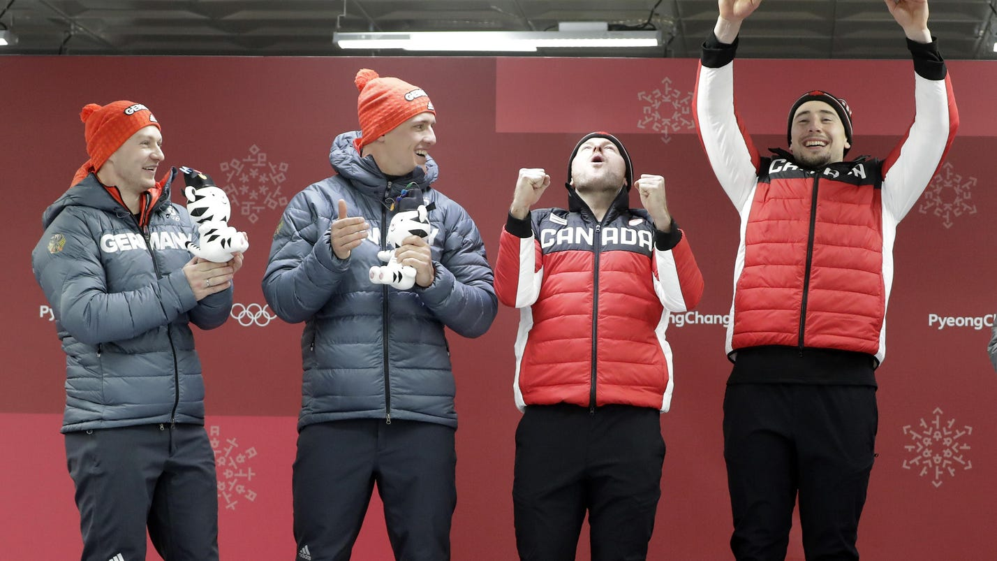Canada, Germany share 2-man bobsled gold