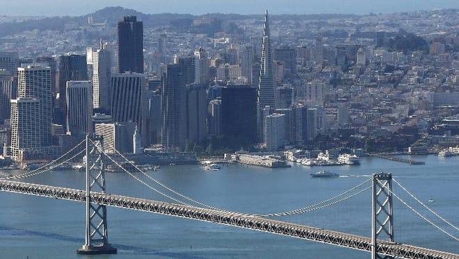 The San Francisco Bay Bridge is seen on October 30, 2009 in San Francisco, California.