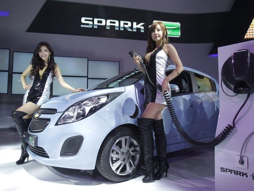 Chevrolet Spark EV, as seen at the Seoul Motor Show 2013