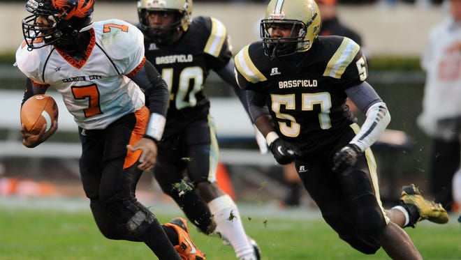 Bassfield's Racheem Boothe (57) is one of six HS linebackers primed for a breakout year.