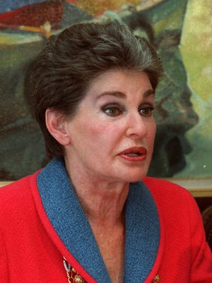Hotelier Leona Helmsley, 87,  shown in this September 1991 file photo, died in Greenwich, Ct., Monday, Aug. 20, 2007.