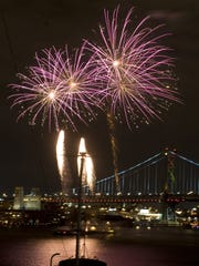 You can see the fireworks show over the Delaware River from the Battleship New Jersey on the Camden Waterfront.