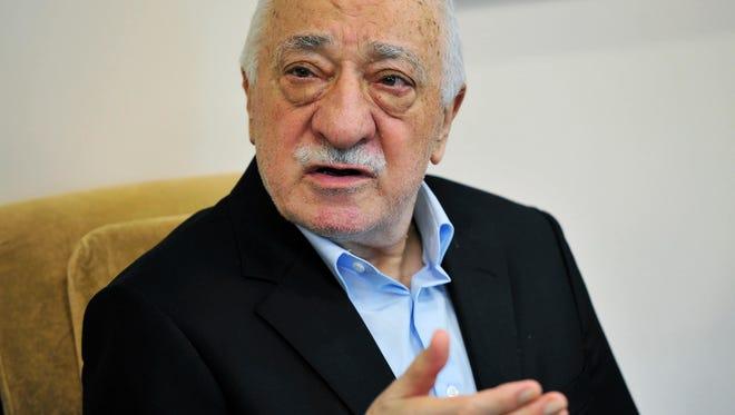 Chris Post, AP Islamic cleric Fethullah Gulen speaks July 17, 2016, to members of the media at his compound in Saylorsburg, Pa. Islamic cleric Fethullah Gulen speaks July 17, 2016, to members of the media at his compound in Saylorsburg, Pa.
