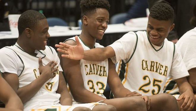 G.W. Carver High's Arctravious Webster (25)  play for tournament host Rim Shaker Knights in next week's AAU Rim Shaker Classic.