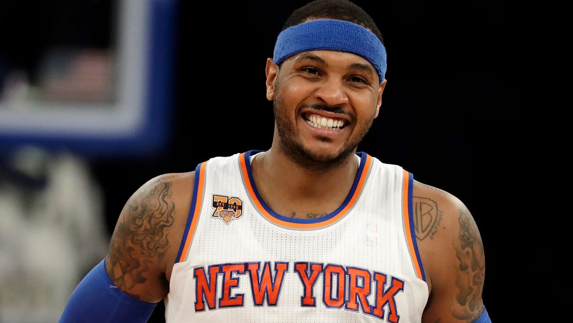 Carmelo Anthony scores 29, Knicks top T-wolves