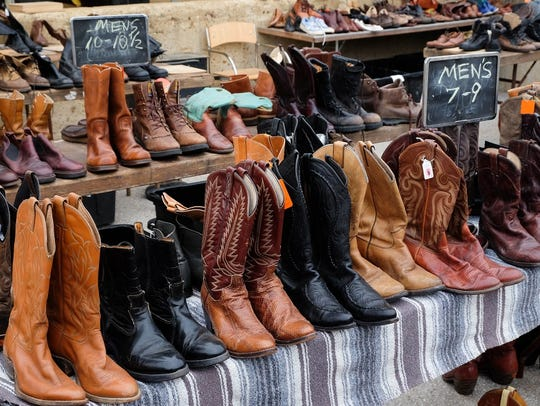 Vintage cowboy boots in multiple sizes and styles at