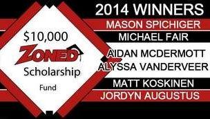 Zoned scholarship winners.