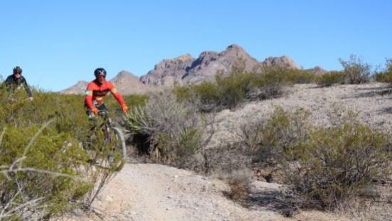 The Doña Ana Mountains north of Las Cruces are a popular mountain biking destination.