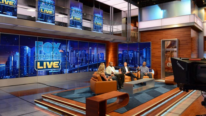 General view of the set of the new FOX SPORTS 1 network.