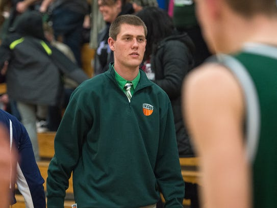 James Buchanan's assistant coach Grant Strawoet photographed