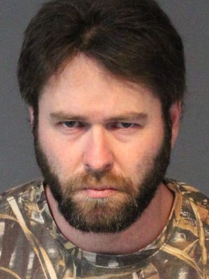 Chad Fowers, 34, was arrested after allegedly crashing his car into an apartment building Tuesday.