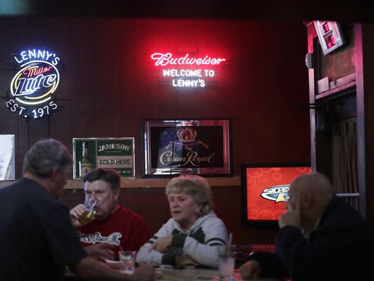 Lenny's serves a clientele that runs 21 to 89 — everybody from customers old enough to remember coming in with their dad or grandpa as kids to millennials looking to change things up from the Washington Street club scene.