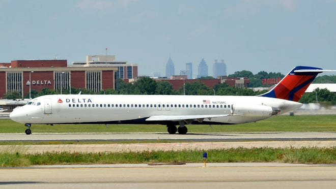 A Delta Air Lines DC-9.