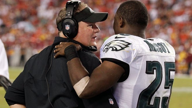 Don't expect any of this kind of love between Philly coach Chip Kelly and Buffalo running back LeSean McCoy.