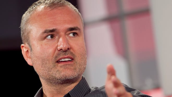 Nick Denton, founder of Gawker Media, speaks during the Interactive Advertising Bureau (IAB) MIXX 2010 conference and expo during Advertising Week in New York, U.S., on Monday, Sept. 27, 2010. The mobile advertising market may more than double in the U.S. to almost $500 million this year, researchers say. Photographer: Andrew Harrer/Bloomberg via Getty Images *** Local Caption *** Nick Denton