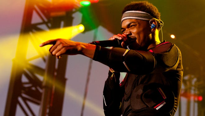 Chance The Rapper performs at the 2015  Pitchfork Music Festival in Chicago.The critically acclaimed hip hop artist will perform in Newark this fall.