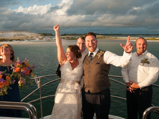 Shane and Kristen Countryman were married on a yacht